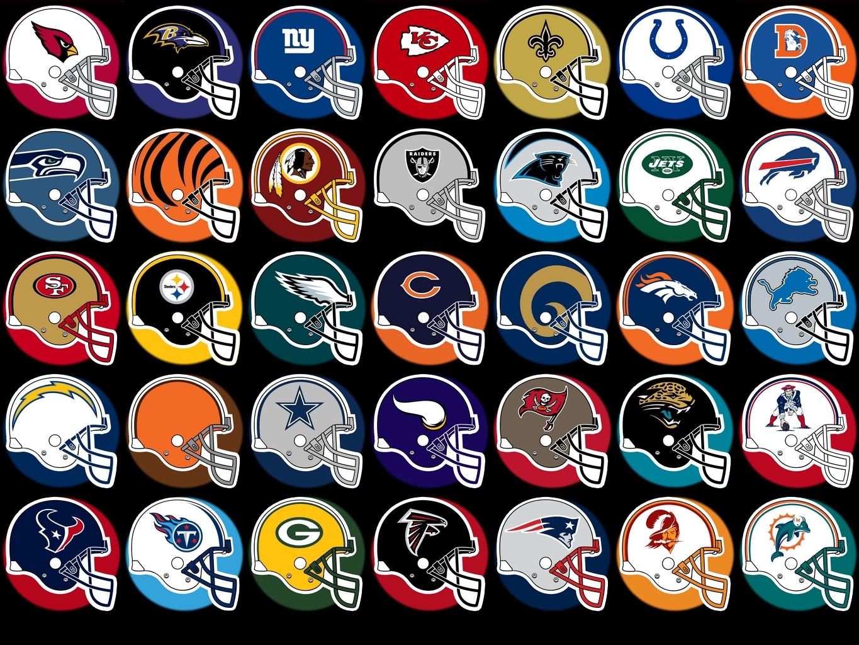 nfl helmets logos.