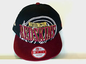 Details about New Era Washington Redskins Licensed Authentic NFL Logo  9FIFTY Snapback Hat Cap.