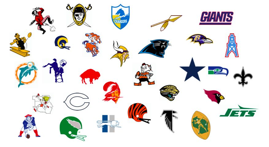 The Definitive Evolution of All 32 NFL Team Logos.