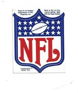 Details about Vintage NFL Shield Logo Decal.