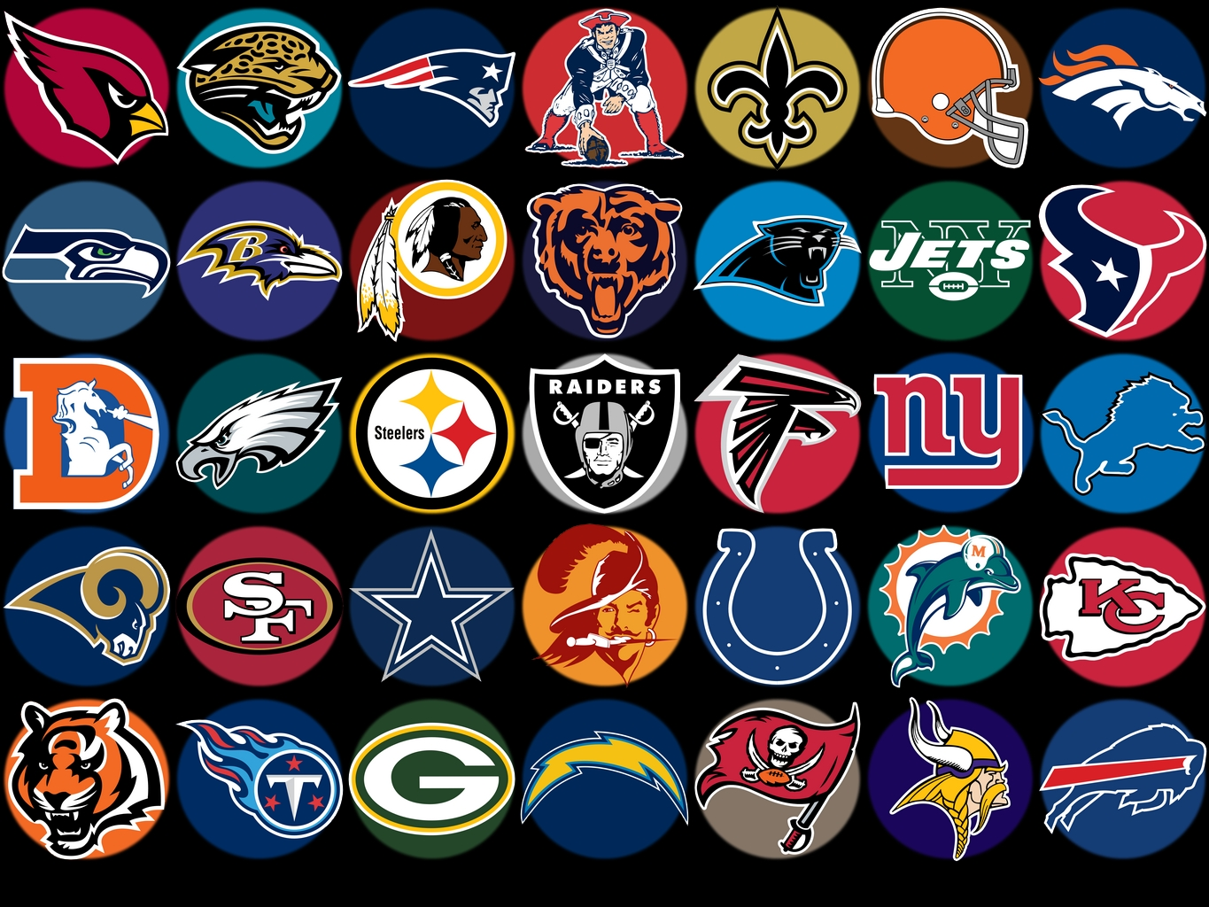 48+] All NFL Team Logo Wallpapers on WallpaperSafari.