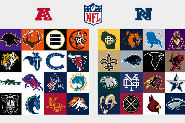 Redesigned Logos for Every NFL Team.