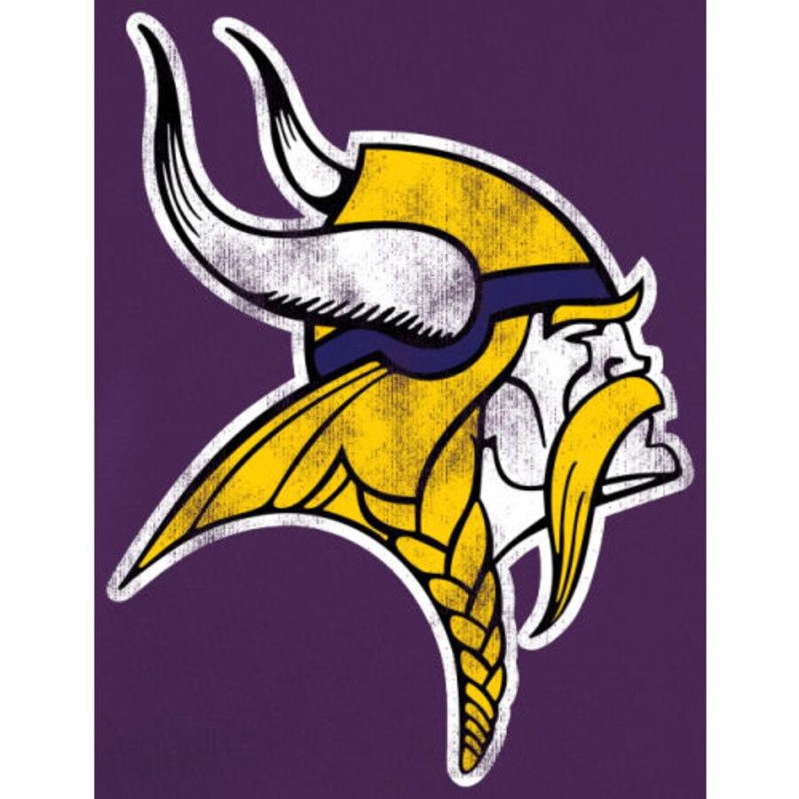 Minnesota Vikings NFL Pro Line Throwback Logo Pullover Hoodie Sweatshirt.