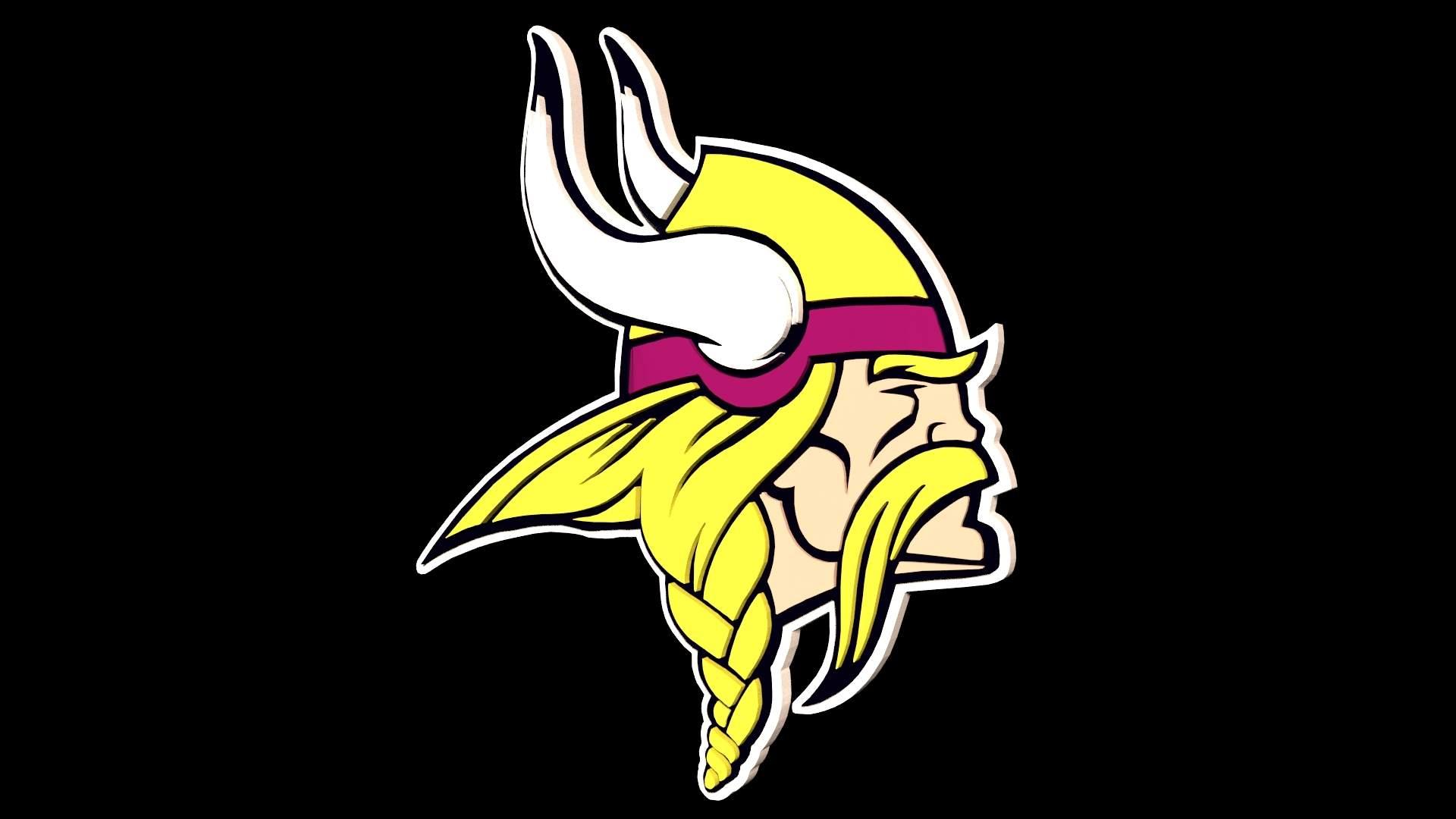 Vikings NFL Logo 3D Model.