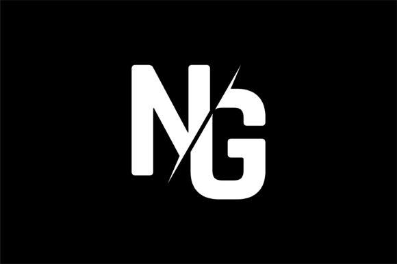 Monogram NG Logo Design.