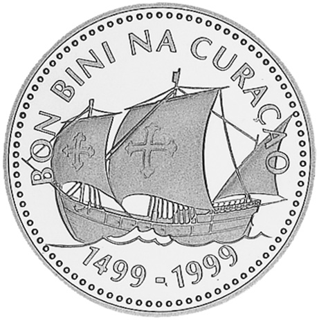 1999 Netherlands Antilles 25 Gulden KM 45 Prices & Values.