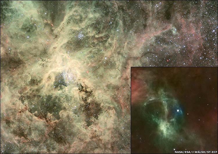 Tarantula Nebula (NGC 2070, 30 Doradus).
