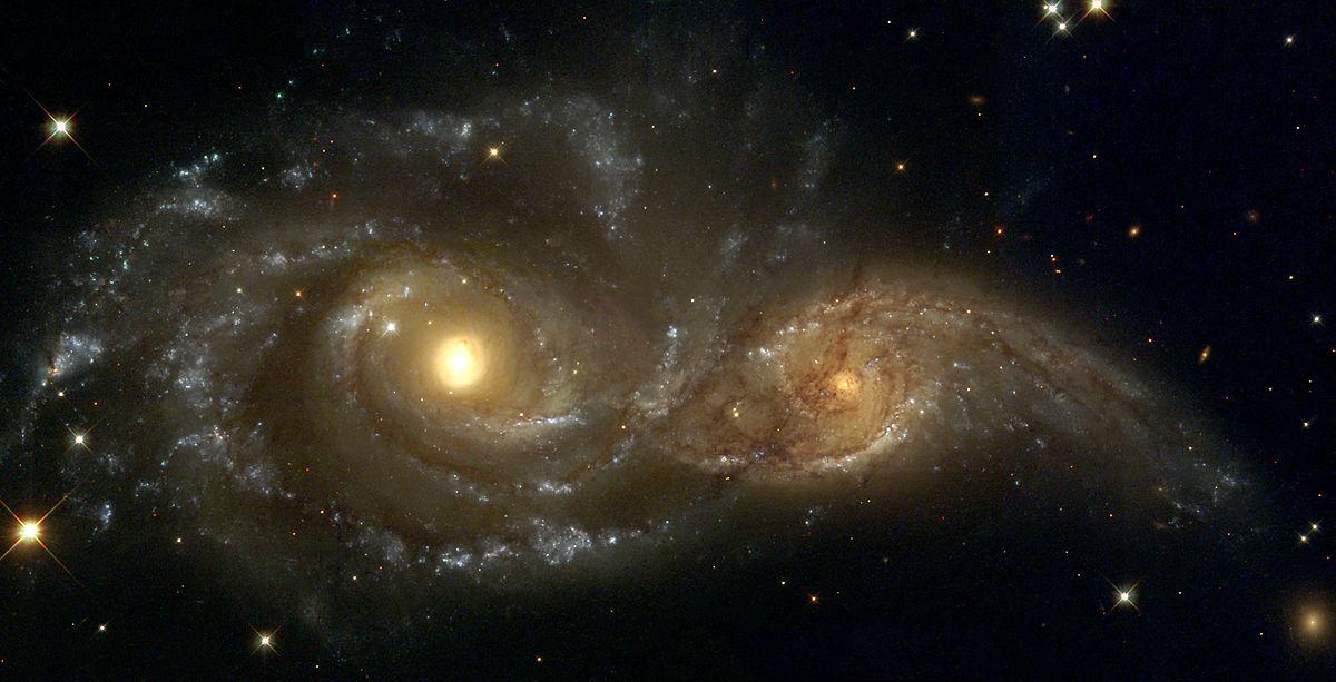NGC 2207 and IC 2163.
