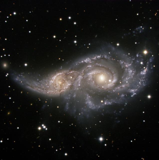NGC 2207, SPIRAL GALAXY, LIGHT YEAR, GRAVITATION.