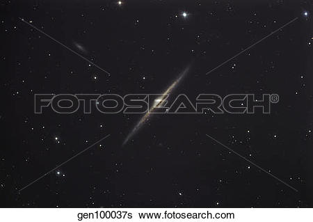 Stock Images of NGC 4565, an edge.