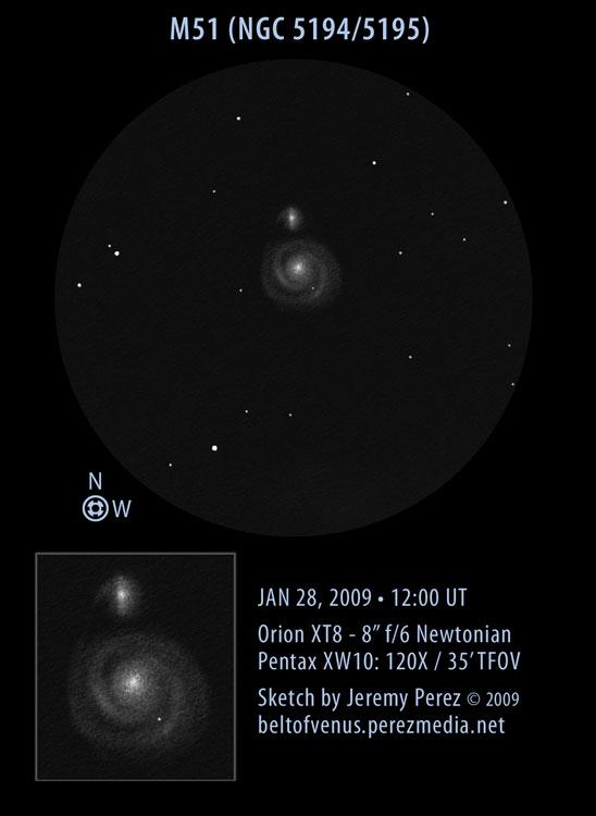 Messier 51 (NGC 5194 and NGC 5195).