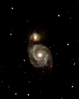M51A (NGC 5194) and M51B (NGC 5195), the Whirlpool Galaxy and.