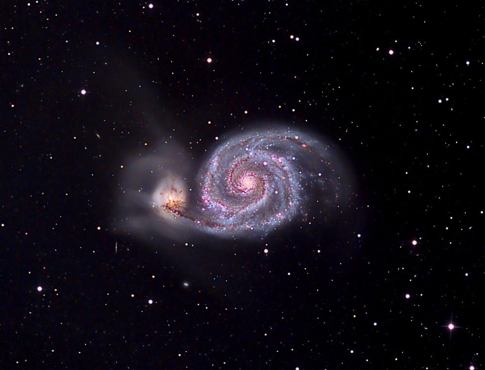 M51 (Whirlpool Galaxy).