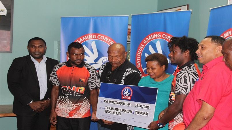 Gaming Board gives K250,000 to PNG Kapuls.
