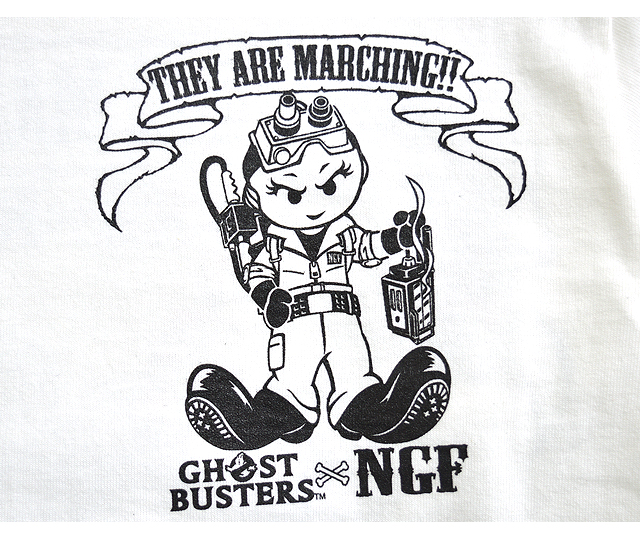 Ghostbusters x NGF W name MARCHING long sleeve T shirts [NativeGangFamily  and ladies 532P17Sep16.