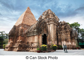 Stock Images of Cham tower in Nha Trang.