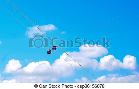 Picture of Cable car in Nha Trang, Vietnam csp36156078.