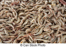 Stock Images of Sale of cooked seafood on the beach in Nha Trang.