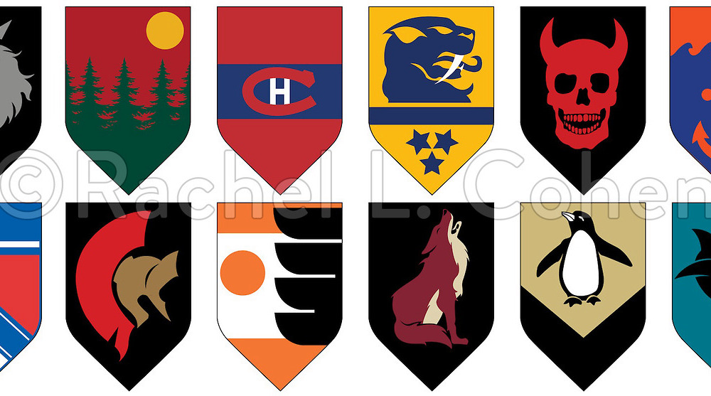 NHL team logos as amazing Game of Thrones.