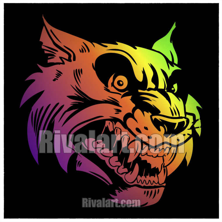 Vector Wildcat Clipart NI 01.