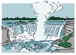 Niagara falls clipart.