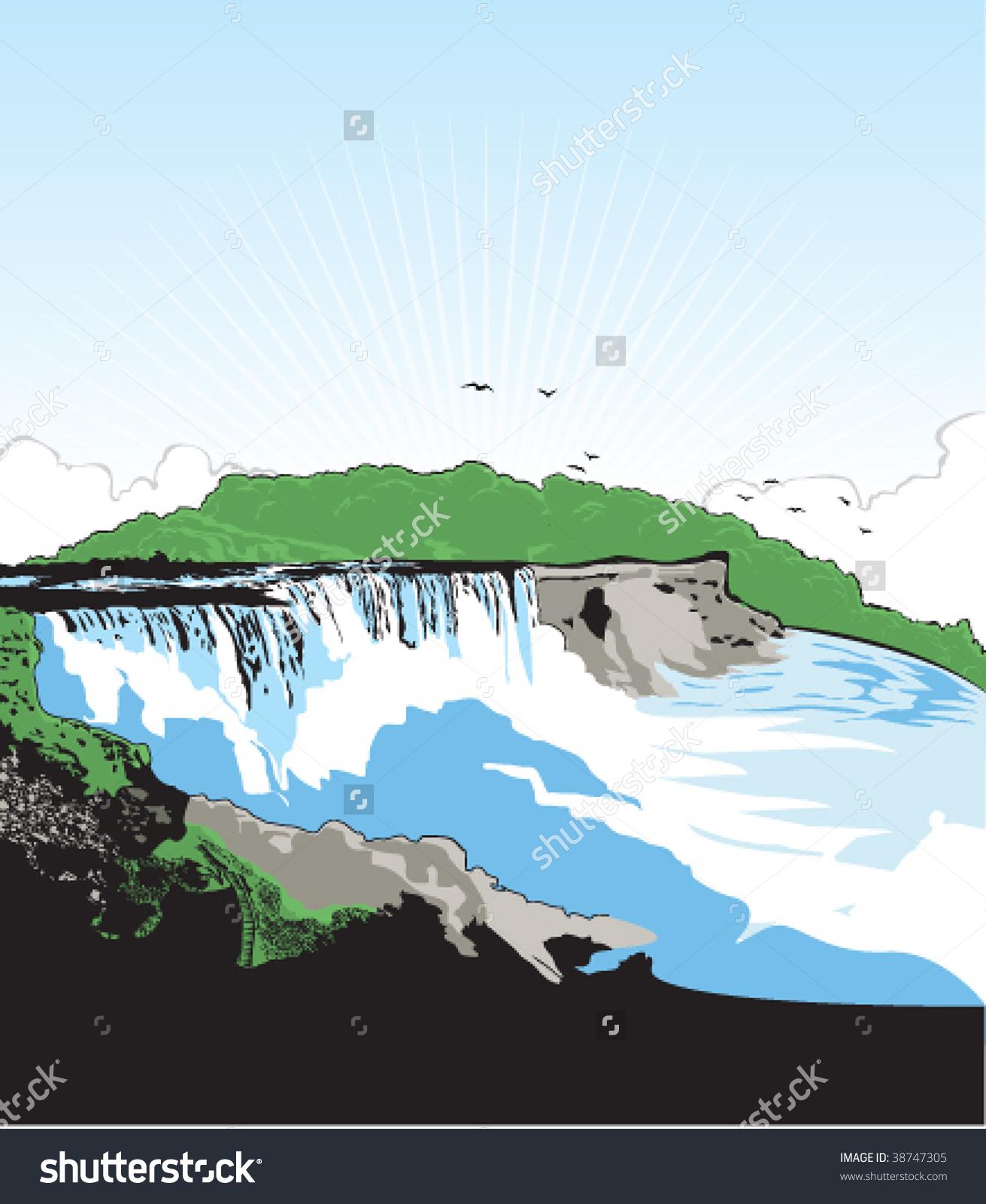 Vector Art Niagara Falls Usa Stock Vector 38747305.