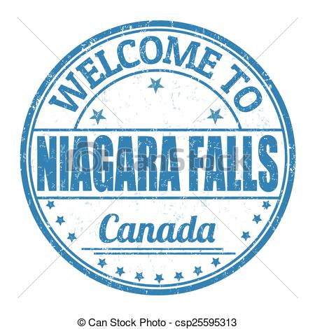 Vector Clip Art of Welcome to Niagara Falls stamp.