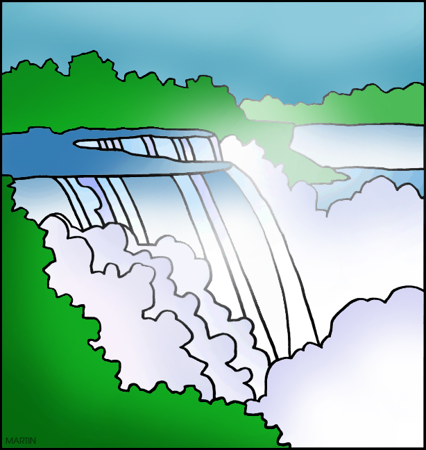 Falls picture clipart.