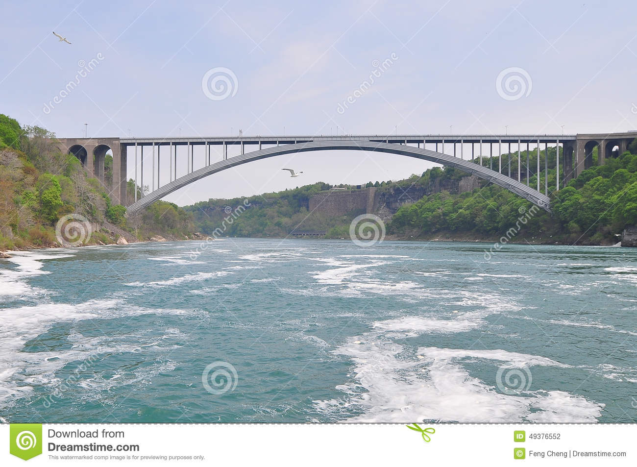 A Bridge On Niagara River Stock Photo.