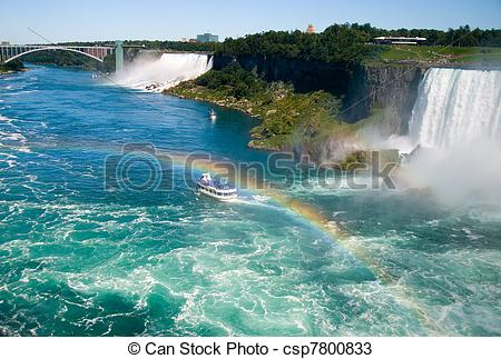 Stock Photos of Niagara River by the Falls.