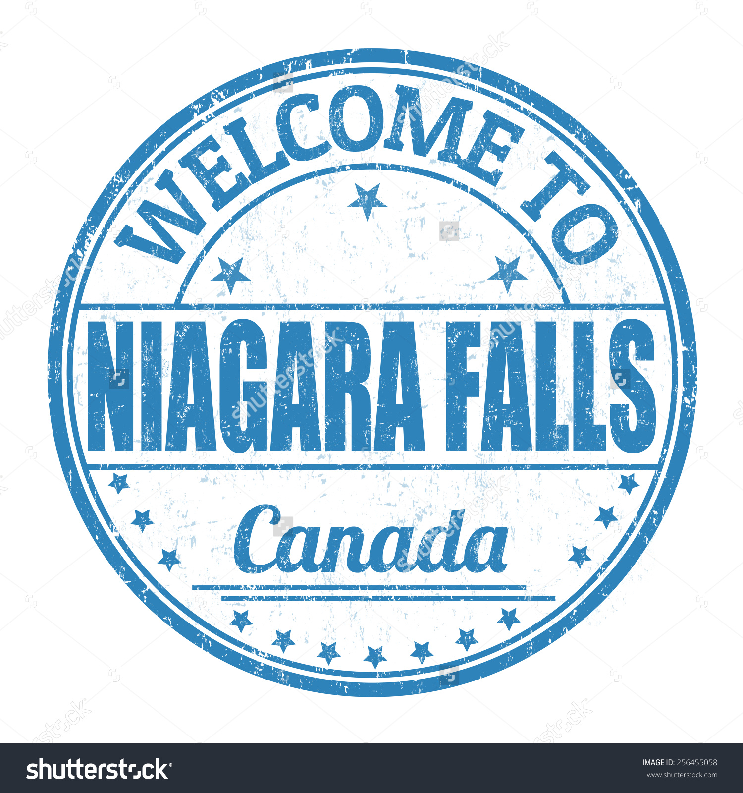 Welcome Niagara Falls Grunge Rubber Stamp Stock Vector 256455058.