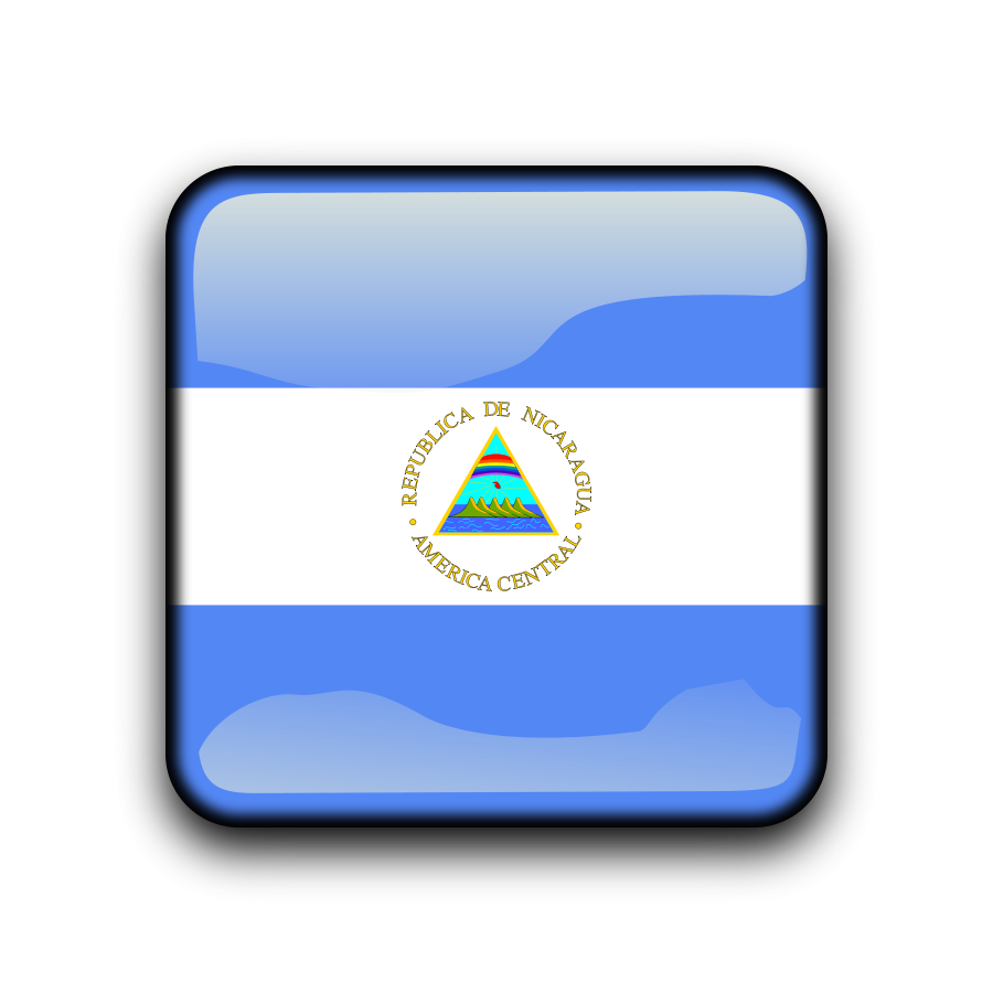 Flag of Nicaragua Clipart, vector clip art online, royalty free.