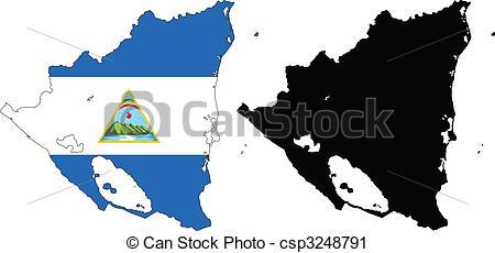 Vector Clip Art of nicaragua.