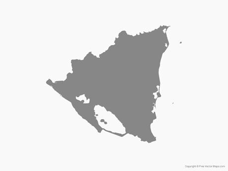 Vector Maps of Nicaragua.