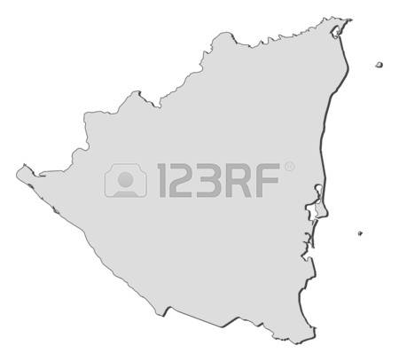 Nicaragua Black And White Clipart.