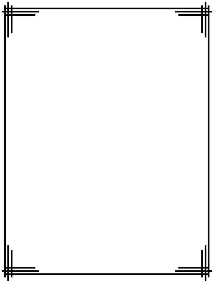 Line Drawing Borders : Free line borders clip art clipground