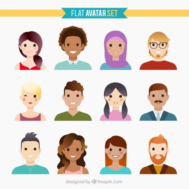 Nice flat avatar collection Vector.