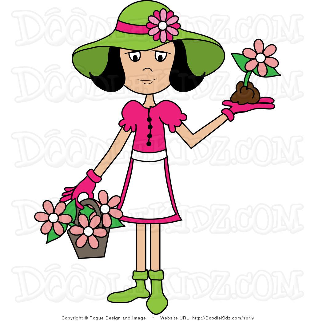 Woman Gardener Clipart Clipground