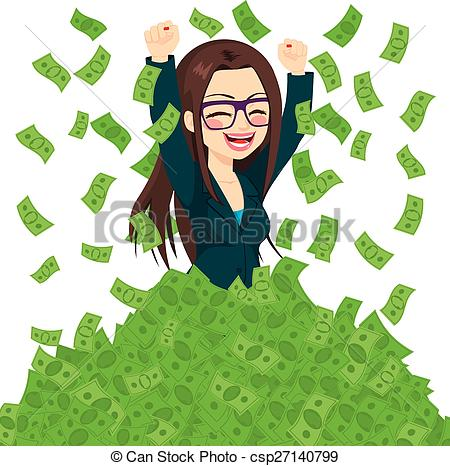Nice Rich Business Woman Clipart.