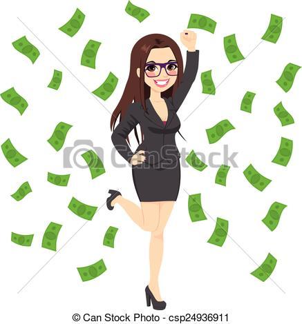 Rich Businesswoman Clipart.