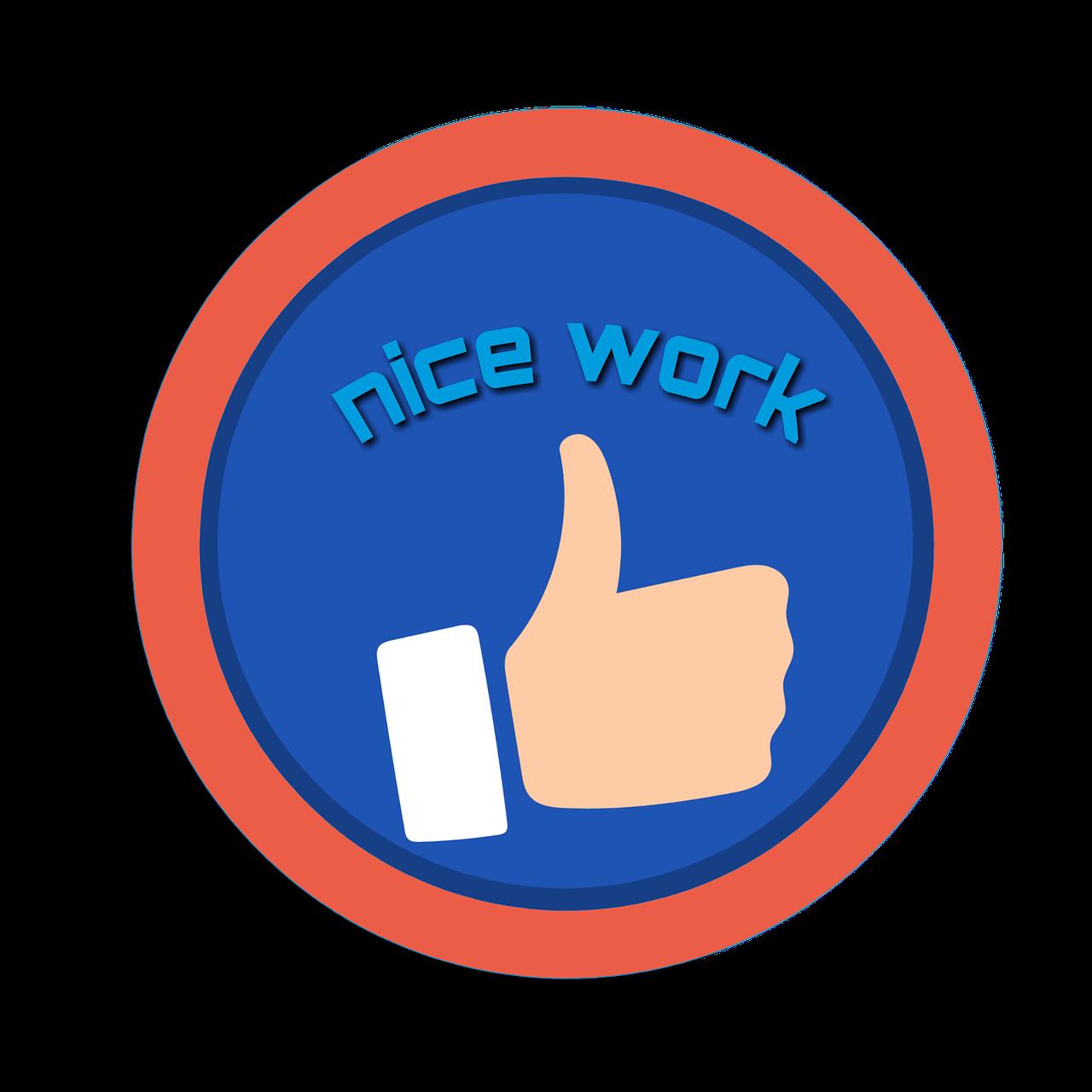 Motivation,nice work,click,clipart,sticker.