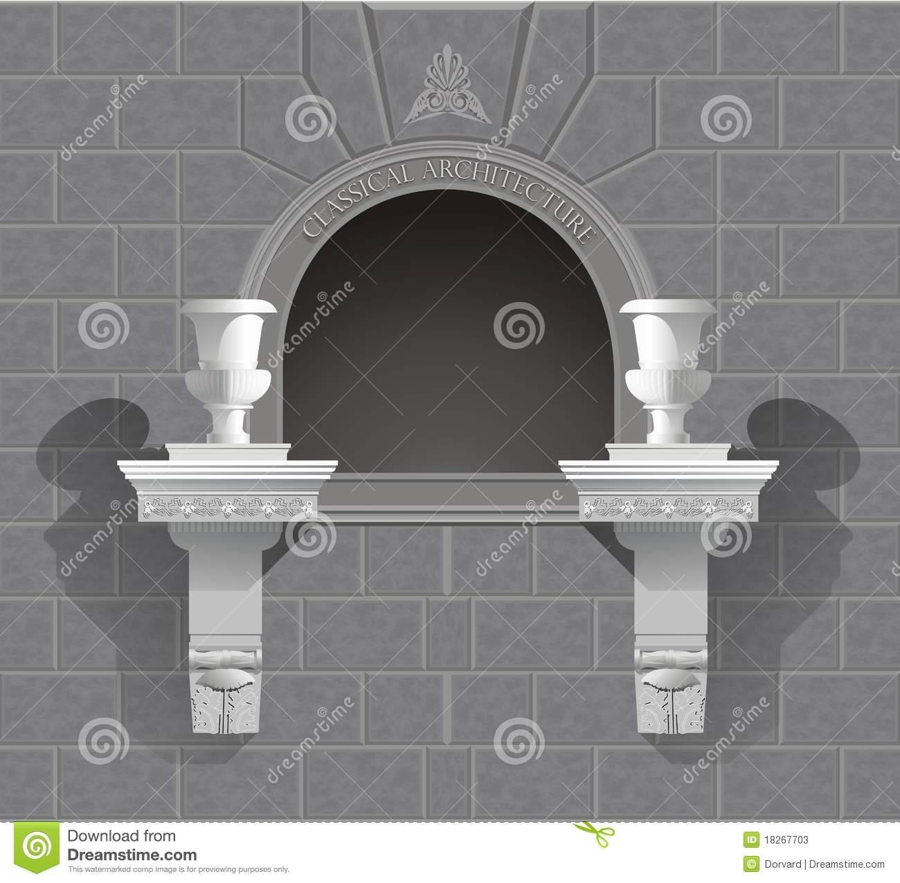3D Wall Niche Shrine In Vector Stock Photos.