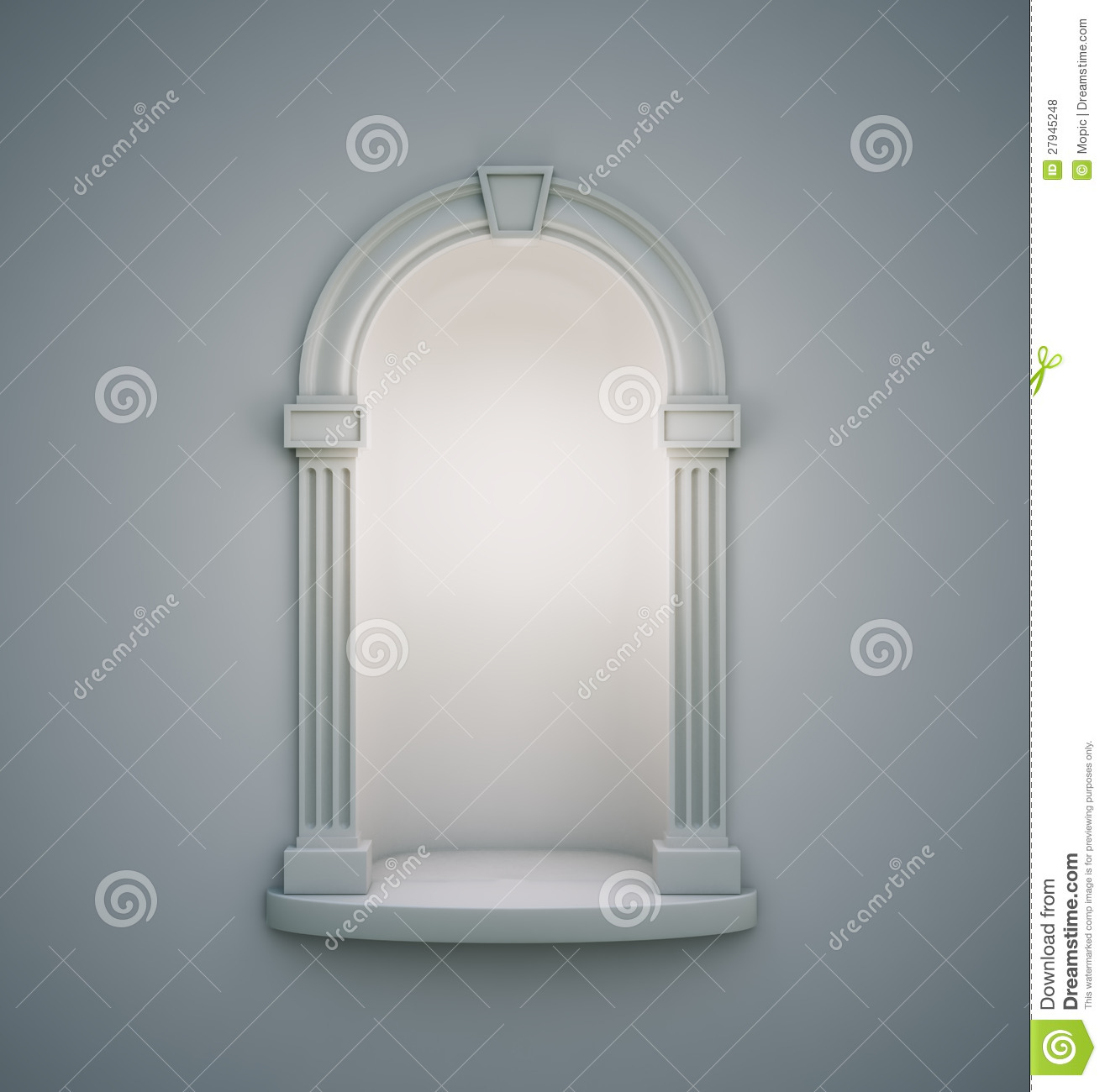 Classical Wall Niche Royalty Free Stock Photos.