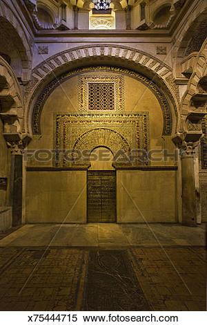 Stock Image of Ornate sacred prayer niche x75444715.