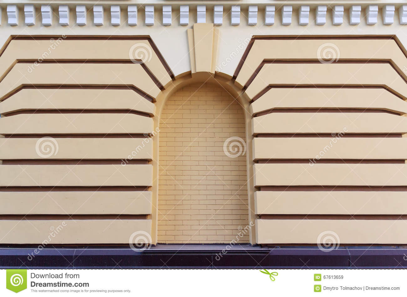 Wall In A Classic Style With A Niche Stock Photo.