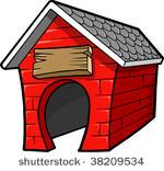 Dog House Free Vector Art.