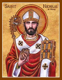 Orthodox Icon Of St Nicholas Clipart.