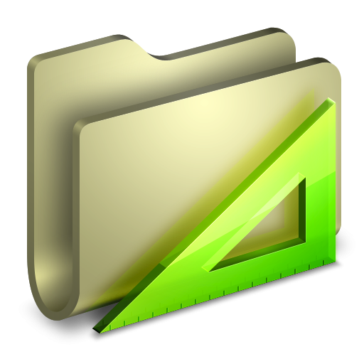 3D Folder Yellow Applications Icon, PNG ClipArt Image.