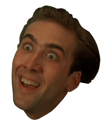 Nicolas Cage Surprised transparent PNG.