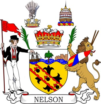Nelson Coat of Arms Meanings and Family Crest Artwork.